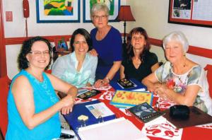 (L-R) Patty O'Connor, Christine Beresniova, Nancy Wright Beasley, Ingrida Vilkiene and Becky Quesenberry